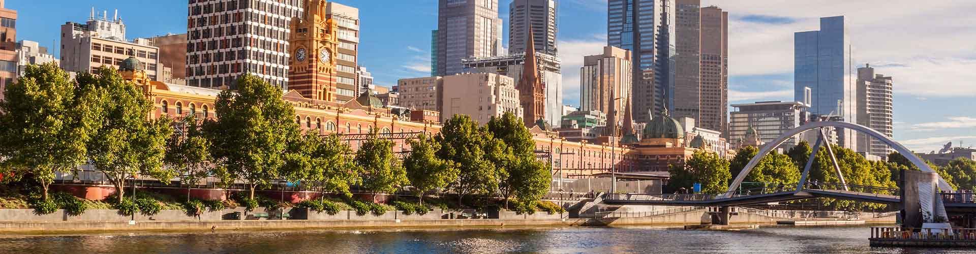 Melbourne - Ubytovny ve čtvrti  Melbourne. Mapy pro Melbourne, fotky a recenze pro každou ubytovnu - Melbourne.