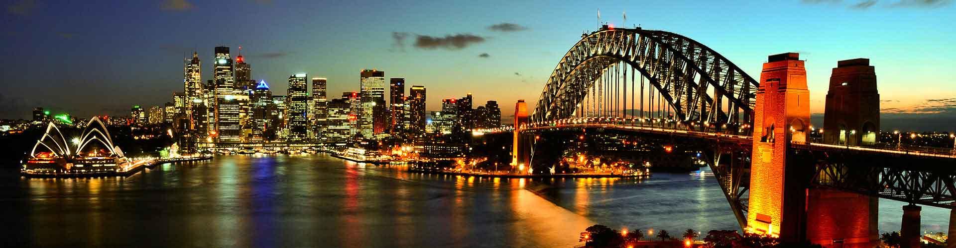 Sydney - Ubytovny ve čtvrti  Haymarket. Mapy pro Sydney, fotky a recenze pro každou ubytovnu - Sydney.