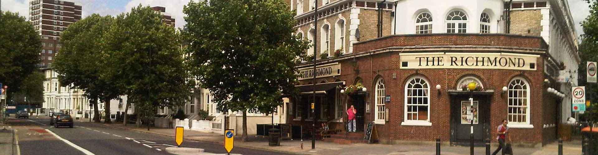 Londýn - Hostelů ve čtvrti Čtvrť Hammersmith a Fulham. Mapy pro Londýn, fotky a recenze pro každý hostel v Londýn.