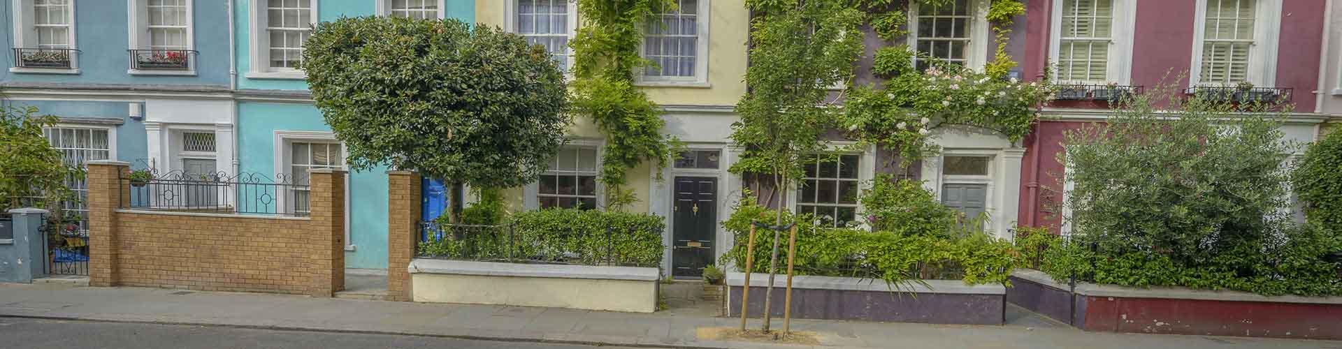 Londýn - Hostelů ve čtvrti Notting Hill. Mapy pro Londýn, fotky a recenze pro každý hostel v Londýn.