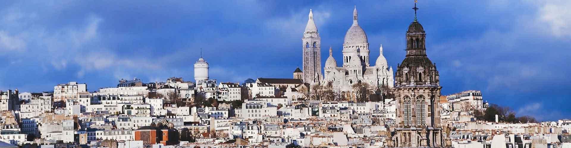 Paříž - Hostelů ve čtvrti Montmartre. Mapy pro Paříž, fotky a recenze pro každý hostel v Paříž.
