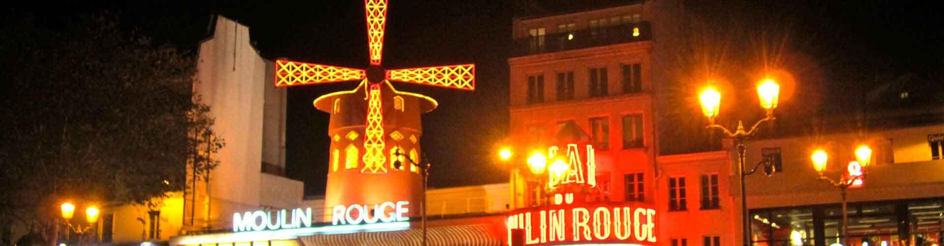 Paříž - Hostelů v blízkosti Moulin Rouge. Mapy pro Paříž, fotky a recenze pro každý hostel v Paříž.