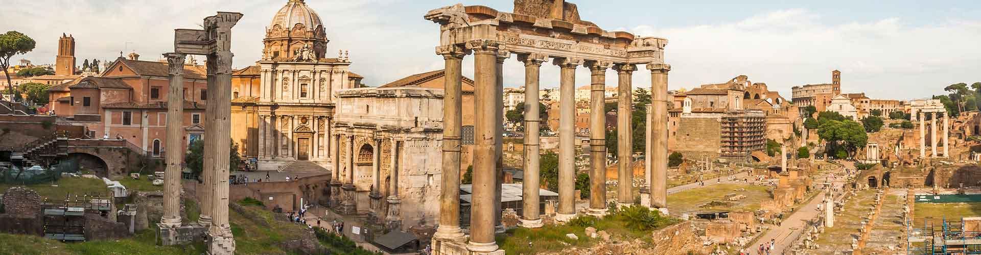 Řím - Hostelů v blízkosti Forum Romanum. Mapy pro Řím, fotky a recenze pro každý hostel v Řím.