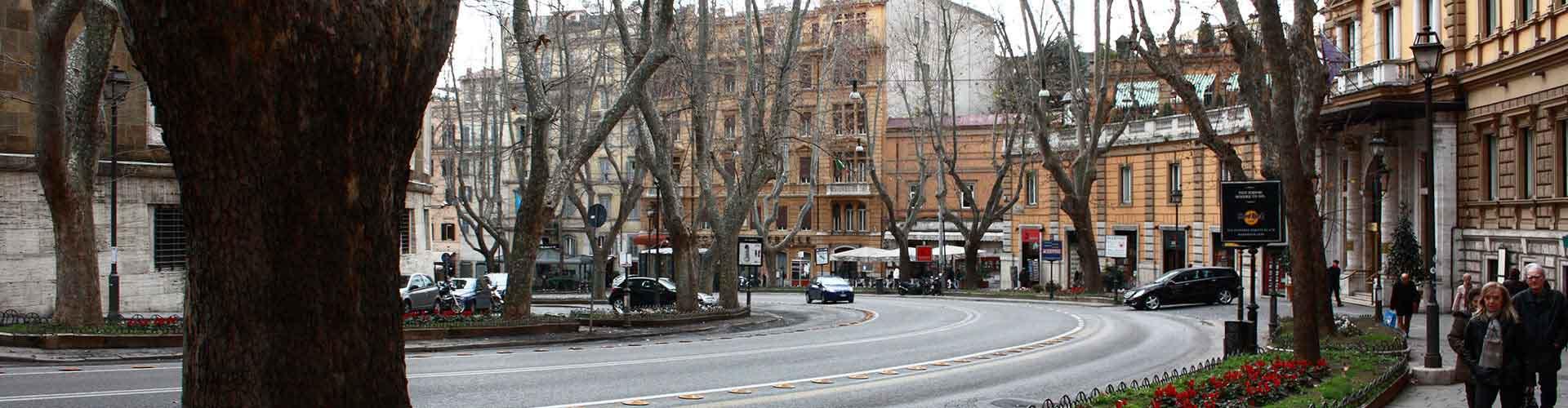 Řím - Hostelů v blízkosti Via Veneto. Mapy pro Řím, fotky a recenze pro každý hostel v Řím.