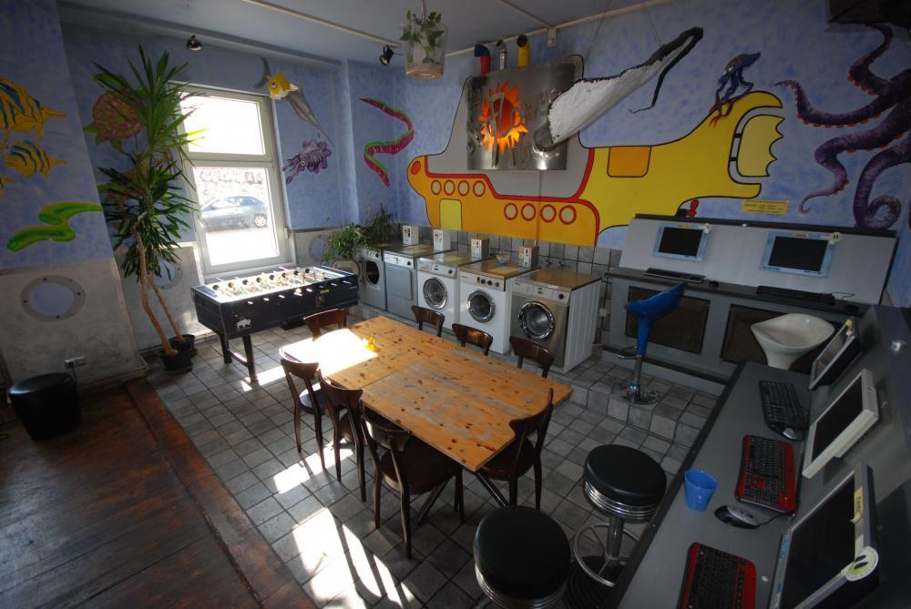 Laundry room and yellow submarine